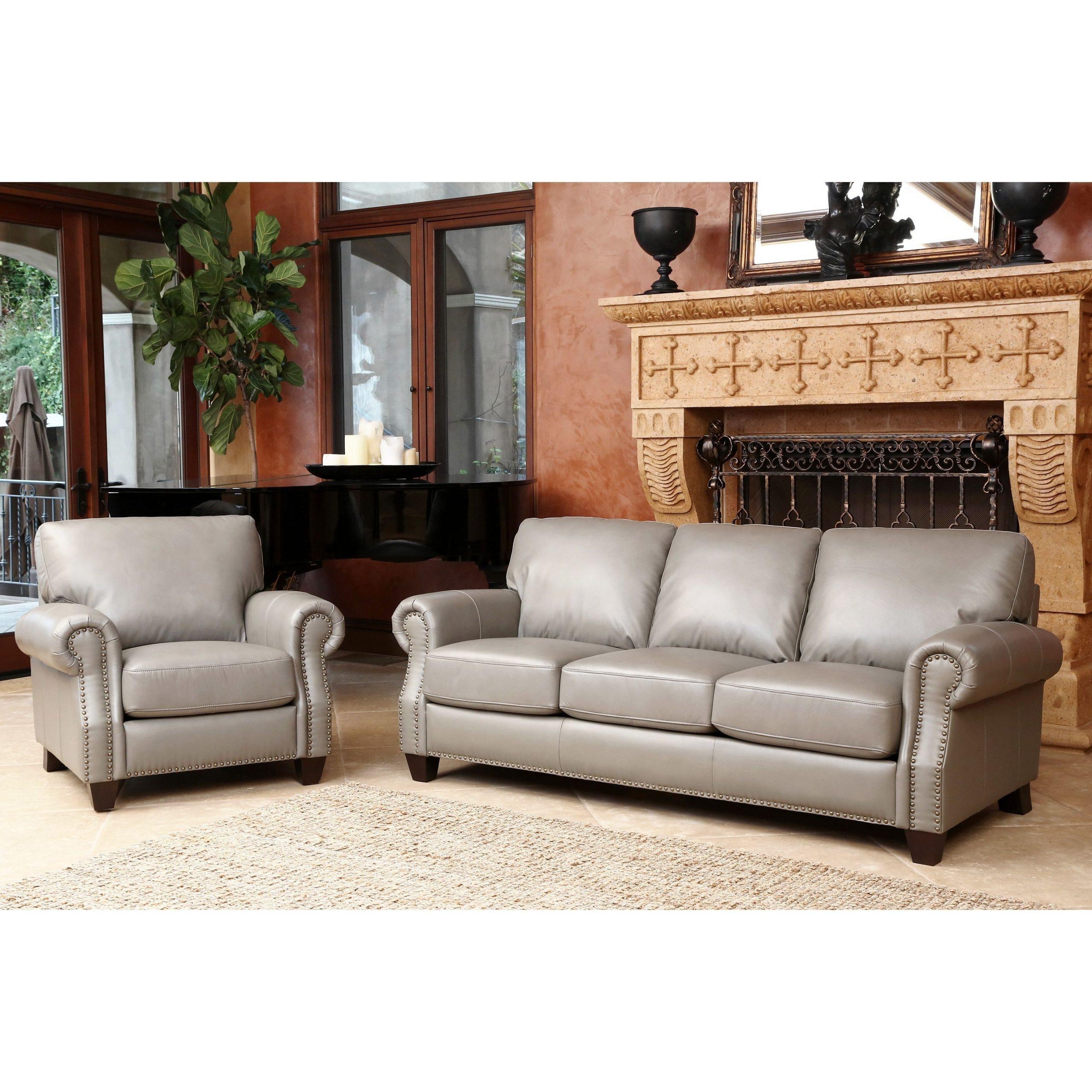 Abbyson Landon Top Grain Leather 2 Piece Living Room Set pertaining to Best Living Room Sofa Sets