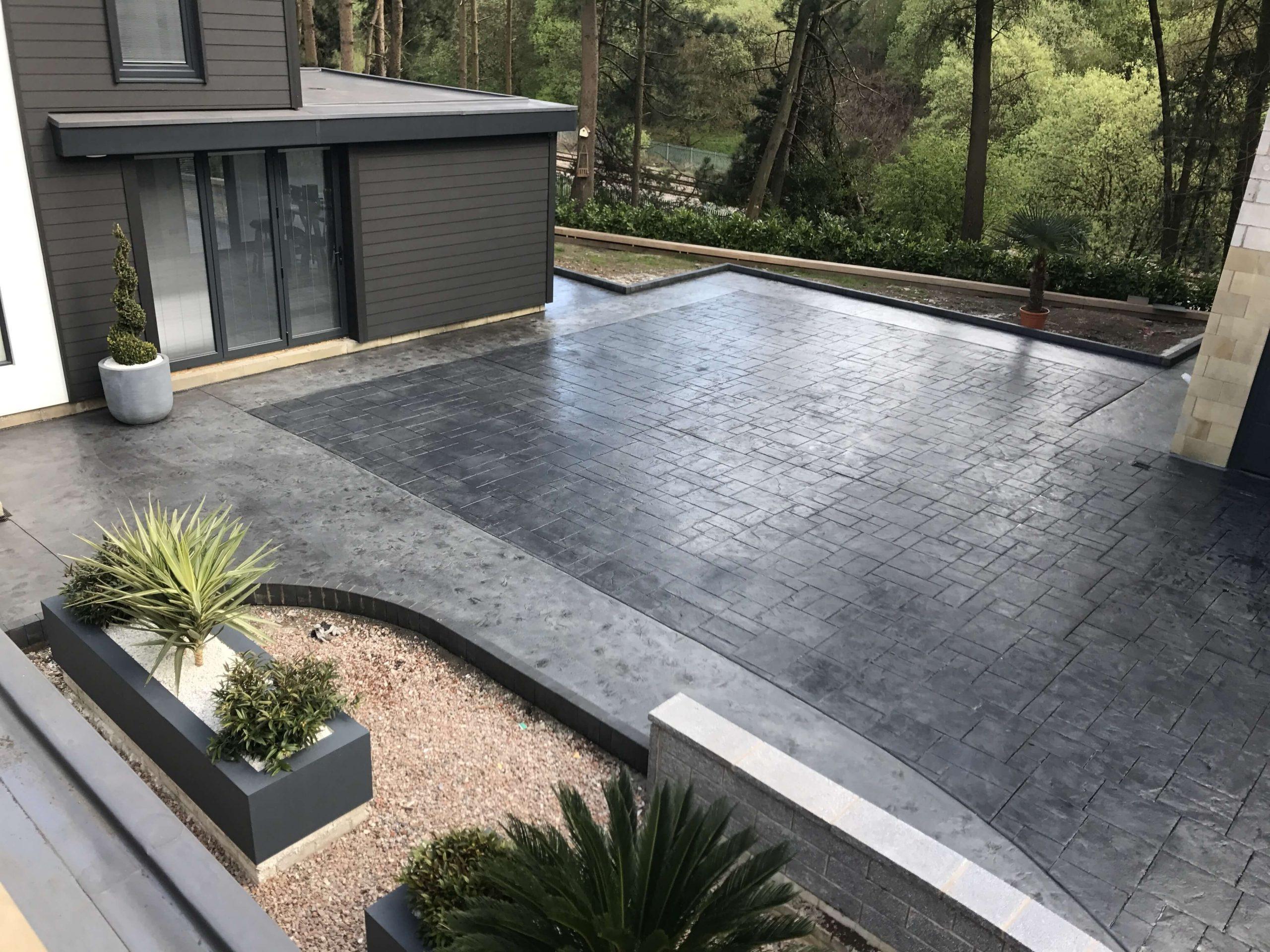 Modern Concrete Backyard