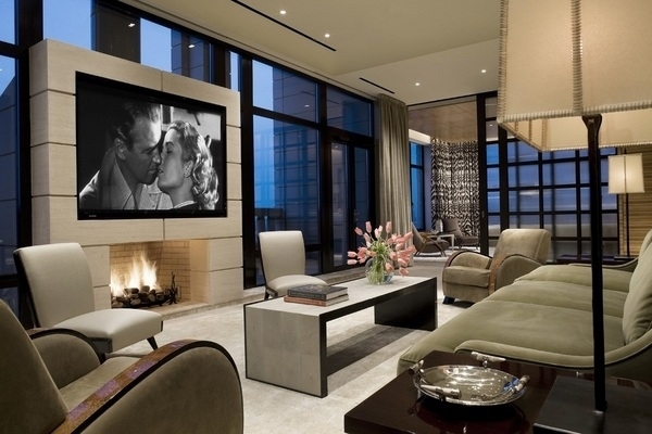 Cool Ideas For Mounting A Tv Over A Fireplace In The inside Living Room Design Ideas With Fireplace