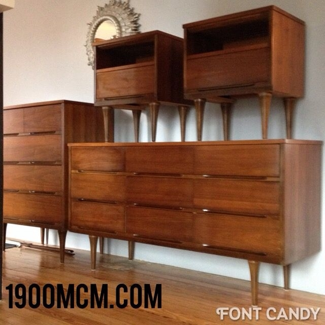 Bedroom Set Mid Century
