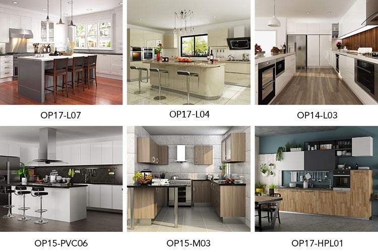 Ghana Modern Galley Desgin Wood White Open Kitchen for Modern Kitchen Design In Ghana