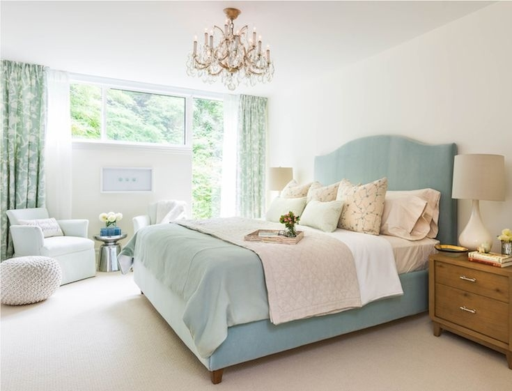 Gorgeous Bedroom Features An Elegant Gold And Crystal inside Duck Egg Blue Bedroom Ideas