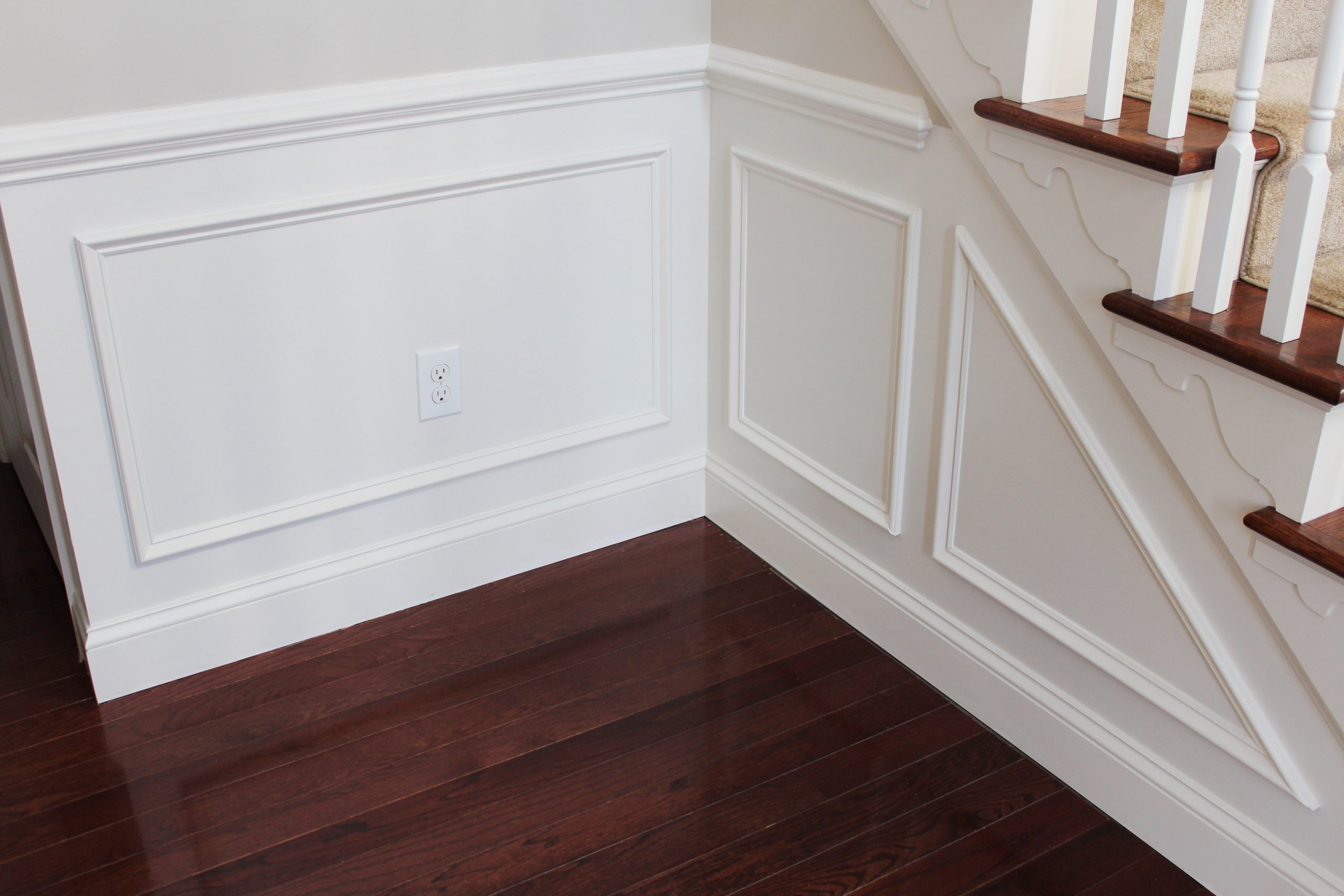 How To Add Molding Squares To A Wall | Ehow intended for Half Wall Cap Moulding