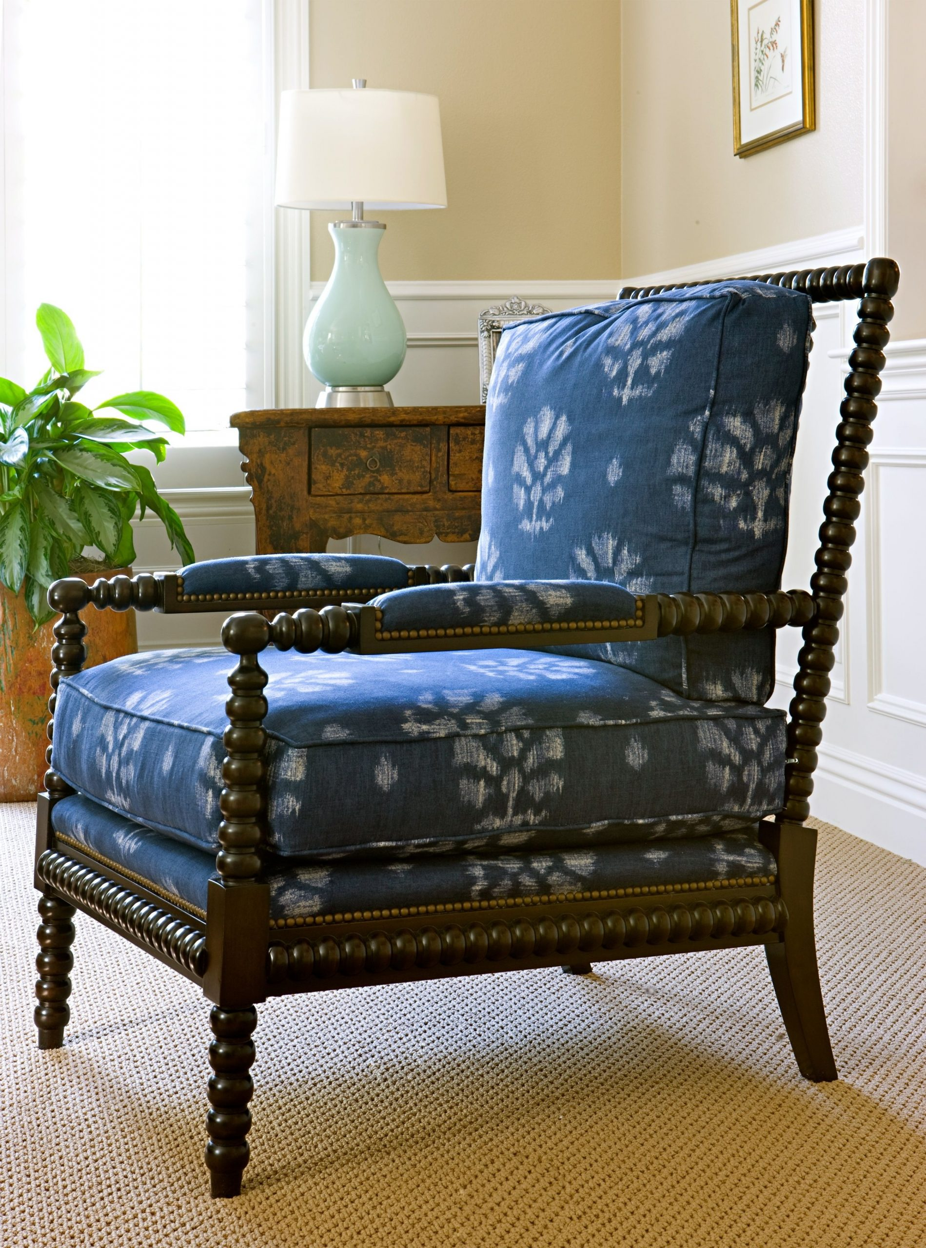 Ikat Occasional Chair, Custom Upholstery By Blackband in Living Room Furniture Chairs