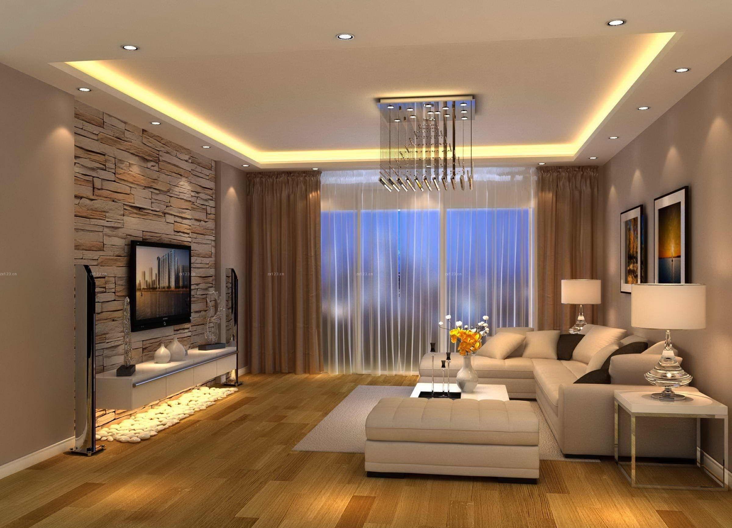 Modern Living Room Brown Design … | Lustres Sala De Estar inside Living Room Remodel