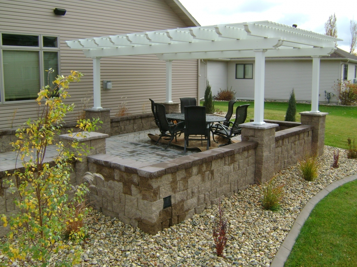 Oasis Landscapes | Landscaping Ideas | Fargo Nd | West with regard to Raised Patio Ideas