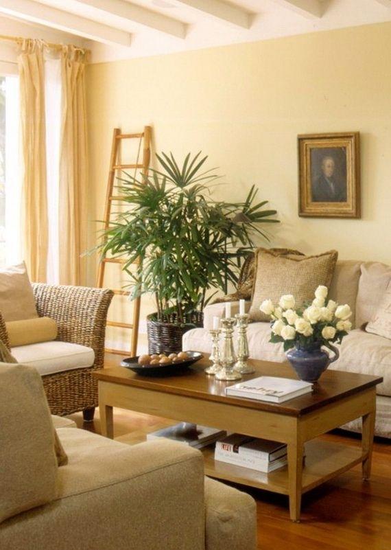Pale Yellow Paint Modern Living Room Design (With Images with Living Room With Yellow Walls