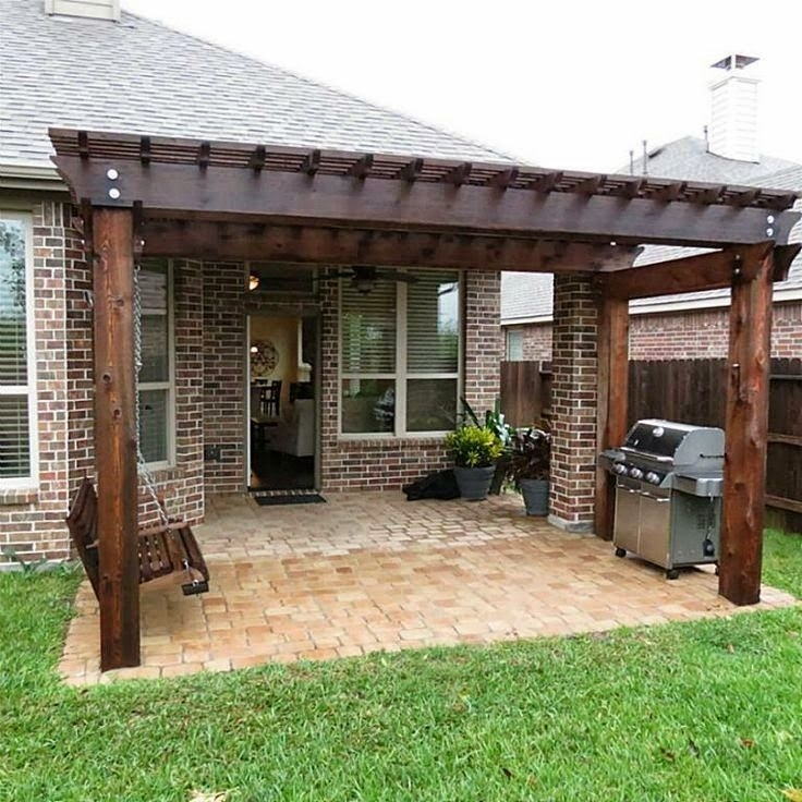 Pergola Off Of An Existing Covered Porch | Backyard Patio throughout Patio Roof Extension Ideas