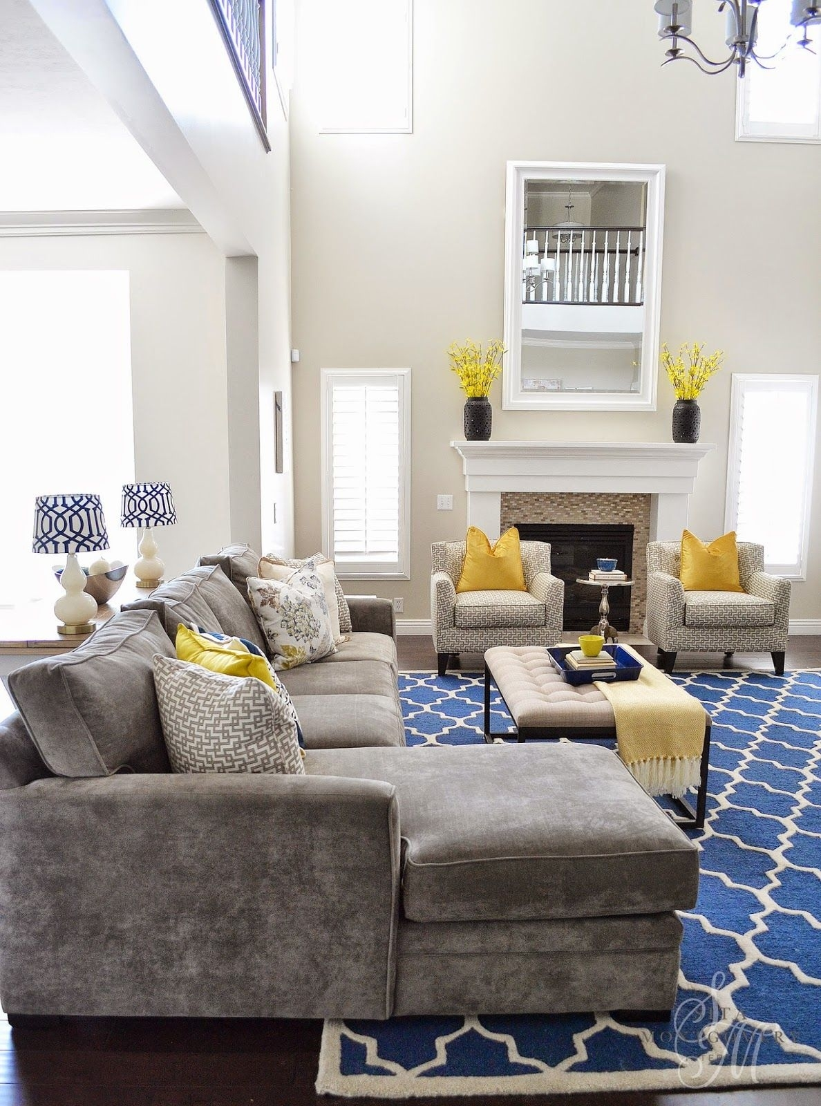 Sita Montgomery Interiors: Client Project Reveal: The intended for Gray White And Yellow Living Rooms