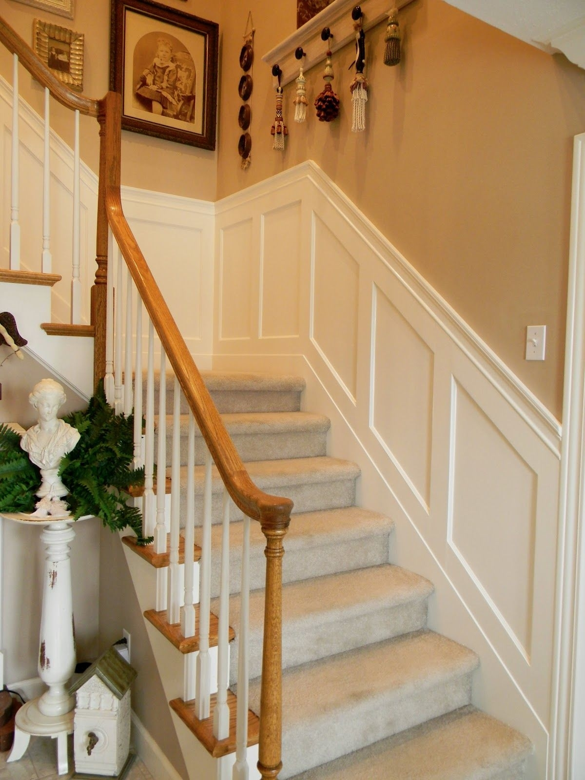 Staircase Wainscoting Ideas | Stairwell Wainscoting within Wall Molding On Stairs