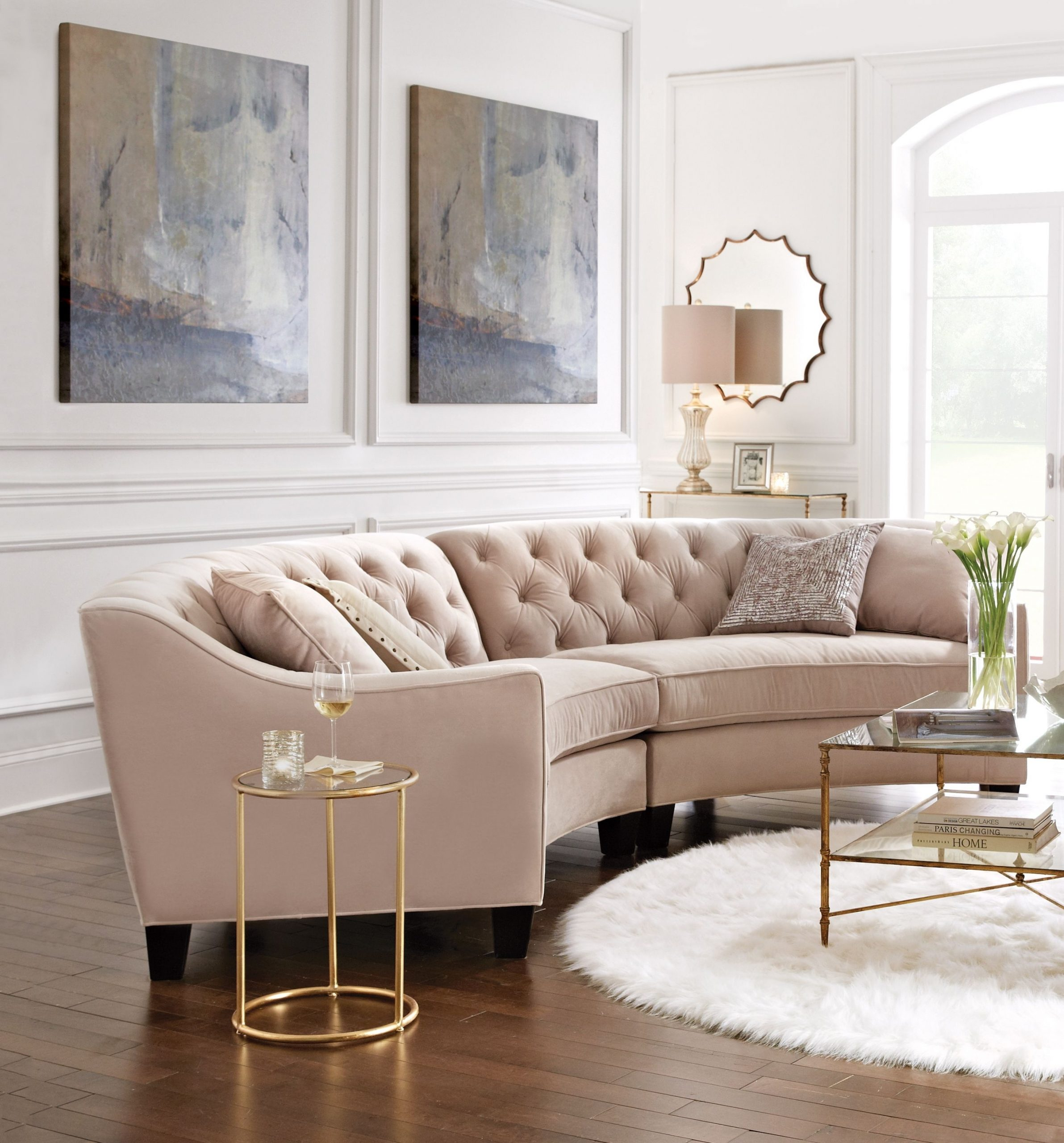 This Curved Sectional Is Great For Conversations inside Family Room Chair
