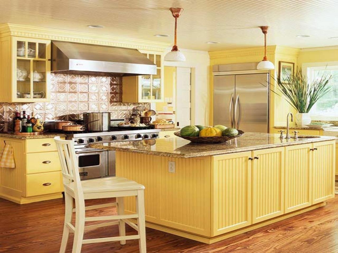 Yellow Kitchens, Yellow Kitchen Design Pale Yellow Kitchen with regard to Kitchen Design Yellow And White