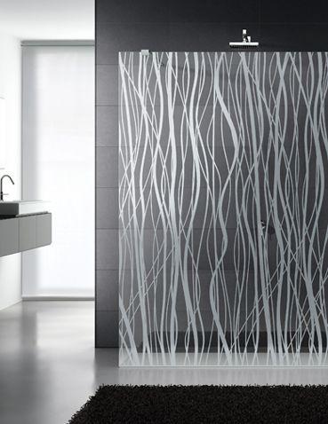 Decorative Shower Glass Partition