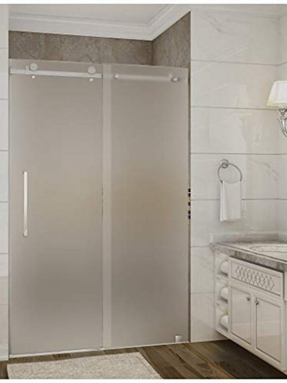 Frosted Glass Shower Partition