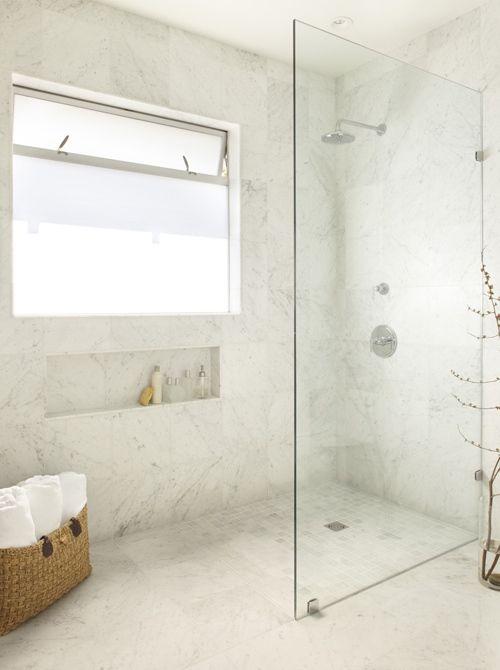 Glass Partition Shower Area