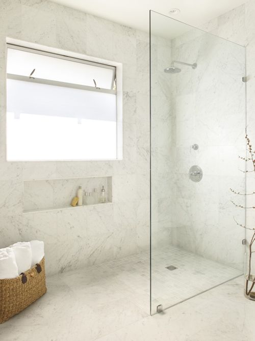 Seamless Glass Shower Partition