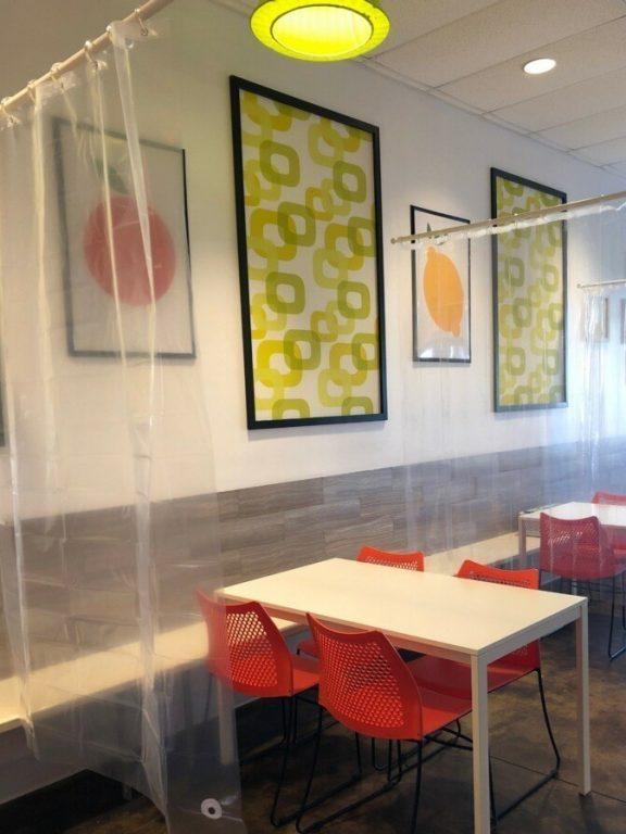 Shower Curtain Divider Restaurant