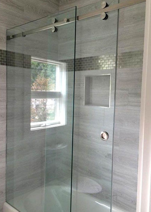 Shower Glass Partition Installation