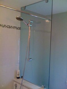 Shower Head Glass Partition