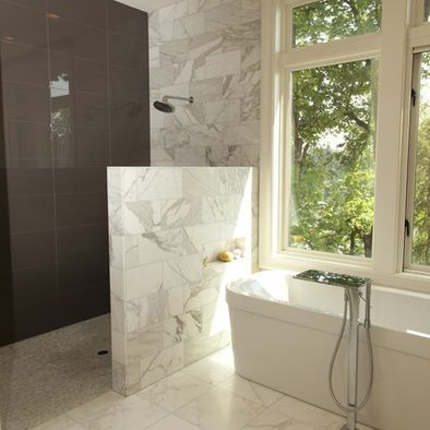 Shower Partition Wall Height